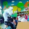 Penyuluhan Cuci Tangan Bersama Murid TK Nurul Huda Boncong Oleh Kampus Ungu